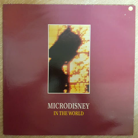 Microdisney ‎– In The World -  Vinyl LP Record - Opened  - Very-Good Quality (VG)