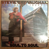 Stevie Ray Vaughan And Double Trouble ‎– Soul To Soul - Vinyl LP Record - Opened  - Very-Good+ Quality (VG+) - C-Plan Audio