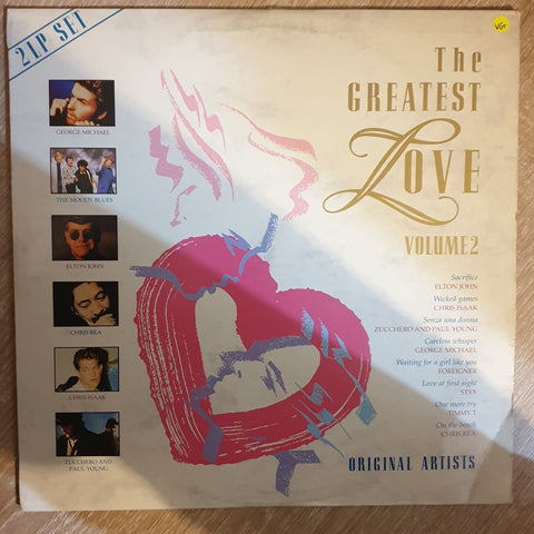 The Greatest Love - Vol 2 - Original Artists -  Double Vinyl LP Record - Opened  - Very-Good+ Quality (VG+) - C-Plan Audio