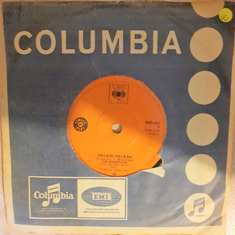 "The Marmalade ‎– Ob-La-Di Ob-La-Da/Chains - Vinyl 7"" Record  - Very-Good Quality (VG) - C-Plan Audio"