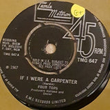 "Four Tops ‎– If I Were A Carpenter - Vinyl 7"" Record - Opened  - Good+ Quality (G+) - C-Plan Audio"