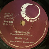 "Tommy Dell ‎– Teddy Bear - Opened - Vinyl 7"" Record  - Very-Good Quality (VG)"
