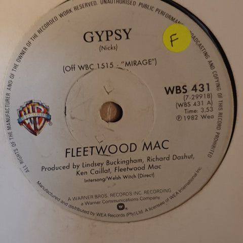 "Fleetwood Mac ‎– Gypsy/Cool Water - Vinyl 7"" Record - Opened  - Fair Quality (F)"