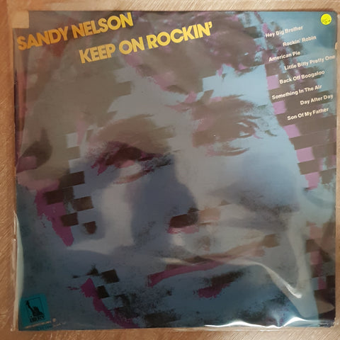Sandy Nelson ‎– Keep On Rockin'  - Vinyl LP Record - Very-Good+ Quality (VG+)
