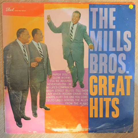 The Mills Brothers ‎– Great Hits -  Vinyl LP Record - Opened  - Very-Good Quality (VG) - C-Plan Audio