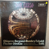 Verdi– Don Carlo - Georg Solti - 4 x Vinyl LP Record Box Set - Opened  - Very-Good+ Quality (VG+) - C-Plan Audio