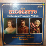 Verdi - Rigoletto - Sutherland, Pavarotti, Milnes - London Symphony Orchestra · Bonynge - 3 x Vinyl LP Record Box Set - Opened  - Very-Good+ Quality (VG+) - C-Plan Audio