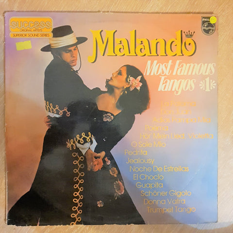 Malando - Most Famous Tangos  - Vinyl LP Record - Opened  - Fair Quality (F) - C-Plan Audio