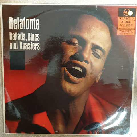 Harry Belafonte ‎– Ballads, Blues And Boasters ‎– Vinyl LP Record - Opened  - Very-Good+ Quality (VG+)
