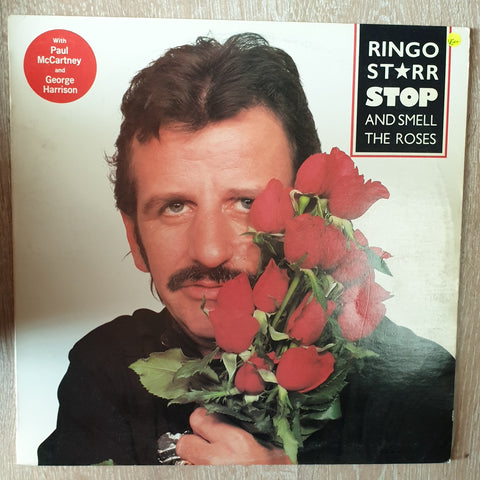 Ringo Starr (With Paul McCartney and George Harrison) - Stop and Smell The Roses - Vinyl LP - Opened  - Very-Good+ Quality (VG+) - C-Plan Audio