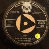 "Boots Brown And His Blockbusters ‎– Cerveza / Juicy - Vinyl 7"" Record - Opened  - Good Quality (G) - C-Plan Audio"