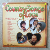 Country Songs Of Love - Vol 2 - 38 Original Hits - Double Vinyl LP Record - Very-Good+ Quality (VG+) - C-Plan Audio