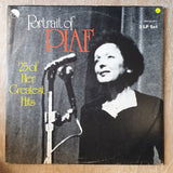 Edith Piaf ‎– Portrait Of Piaf (25 Of Her Greatest Hits) - Double Vinyl LP Record - Very-Good+ Quality (VG+) - C-Plan Audio