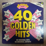 40 Golden Hits - Original Artists -  Double Vinyl LP Record - Very-Good+ Quality (VG+) - C-Plan Audio