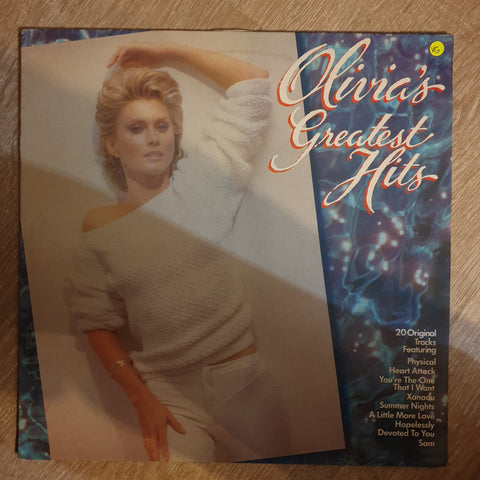 Olivia Newton John - Olivias Hreatest Hits - Vinyl LP Record - Opened  - Very-Good Quality (VG) - C-Plan Audio