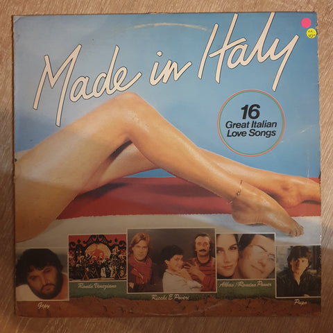 Made in Italy -  16 Great Italian Love Songs - Vinyl LP Record - Very-Good+ Quality (VG+) - C-Plan Audio