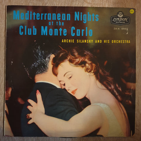 Archie Silansky & His Orchestra - Mediterranean Nights at the Club Monte Carlo ‎– Vinyl LP Record - Opened  - Very-Good Quality (VG) - C-Plan Audio