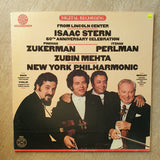Isaac Stern 60th Anniversary Celebration From Lincoln Center - CBS Mastersound Audiophile Pressing - - Isaac Stern, Pinchas Zukerman, Itzhak Perlman, Zubin Mehta, New York Philharmonic Orchestra - Vinyl LP Record - Very-Good+ Quality (VG+)