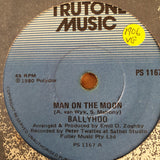 "Ballyhoo ‎– Man On The Moon - Vinyl 7"" Record - Opened  - Very-Good Quality (VG) - C-Plan Audio"