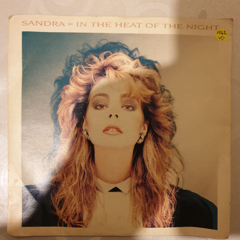 "Sandra ‎– In The Heat Of The Night - Vinyl 7"" Record - Opened  - Very-Good Quality (VG) - C-Plan Audio"