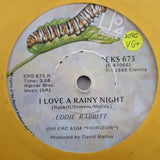 "Eddie Rabbitt ‎– I Love A Rainy Night - Vinyl 7"" Record - Very-Good+ Quality (VG+)"