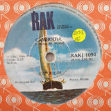 "Kim Wilde ‎– Cambodia - Vinyl 7"" Record - Very-Good Quality (VG)"