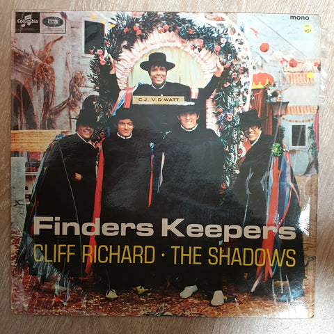 Cliff Richard And The Shadows ‎– Finders Keepers  - Vinyl LP Record - Very-Good+ Quality (VG+) - C-Plan Audio