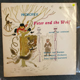 Prokofiev - Peter And The Wolf –  Peter Ustinov/Herbert von Karajan - Philharmonia Orchestra ‎– Vinyl LP Record - Very-Good+ Quality (VG+)