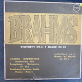 Brahms - Jascha Horenstein Symphony No. 3 in F Majo, Op. 90 - Variations On A Theme By Haydn Op. 56/A  - Vinyl LP Record - Opened  - Very-Good Quality (VG)