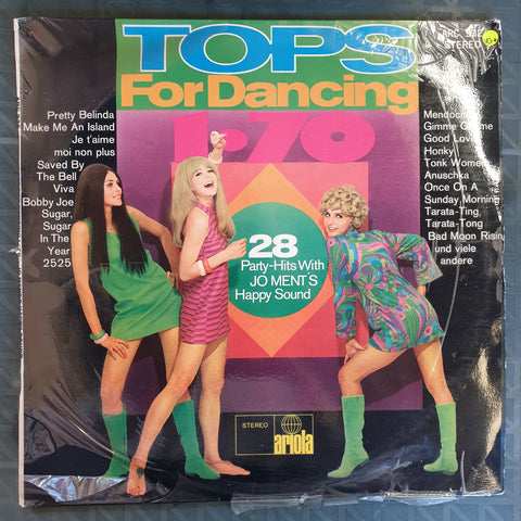Jo Ment's Happy Sound ‎– Tops For Dancing 1/70 ‎– Vinyl LP Record - Very-Good+ Quality (VG+) - C-Plan Audio