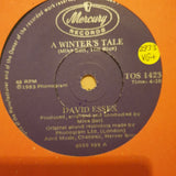 "David Essex ‎– A Winter's Tale (Mike Batt) - Vinyl 7"" Record - Very-Good+ Quality (VG+)"