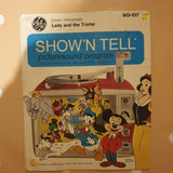 "Disney - Lady and the Tramp - Show'n Tell (no picture slide)- Vinyl 7"" Record - Opened  - Fair Quality (F)"