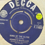 "Kenneth McKellar ‎– Song Of The Clyde / It's A Long, Long Way To Tipperary  -  Vinyl 7"" Record - Very-Good+ Quality (VG+)"