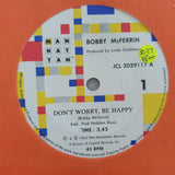 "Bobby McFerrin ‎– Don't Worry - Be Happy!/Simple Pleasures - Vinyl 7"" Record - Very-Good+ Quality (VG+)"