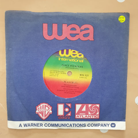 "Player ‎– Space Invaders - Vinyl 7"" Record - Very-Good+ Quality (VG+) - C-Plan Audio"