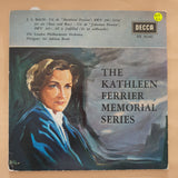 "Kathleen Ferrier ‎– Kathleen Ferrier Memorial Series - J.S. Bach- Vinyl 7"" Record - Very-Good+ Quality (VG+)"