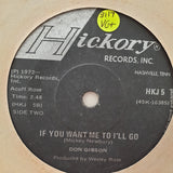 "Don Gibson ‎– Woman / If You Want Me To I'll Go - Vinyl 7"" Record - Very-Good+ Quality (VG+) - C-Plan Audio"