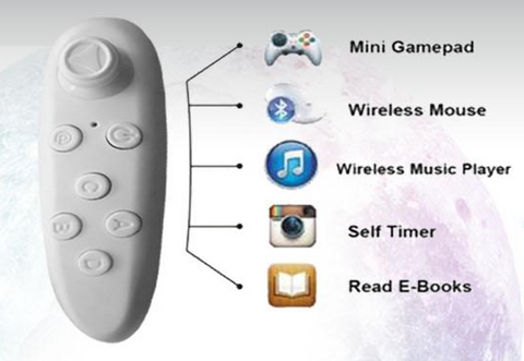 VR Bluetooth Remote for VR Gaming  and Photos for Apple and Android phones