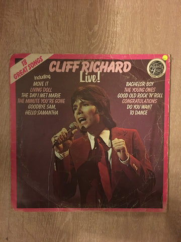 Cliff Richard - Live - 18 Greatest Songs - Vinyl LP Record - Opened  - Good+ Quality (G+)