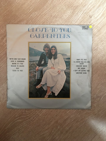 Carpenters - Close To You - Vinyl LP Record - Opened  - Very-Good Quality (VG)