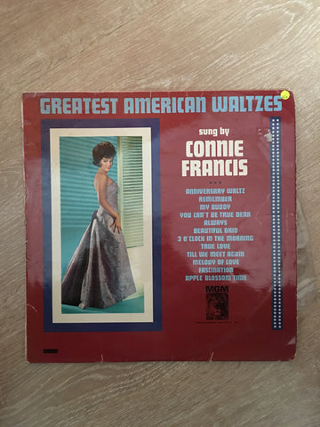 Connie Francis ‎– Greatest American Waltzes - Vinyl LP Record - Opened  - Very-Good+ Quality (VG+)