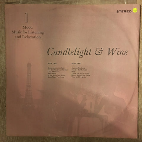 Candlelight & Wine - Vinyl LP Record - Opened  - Very-Good+ Quality (VG+) - C-Plan Audio
