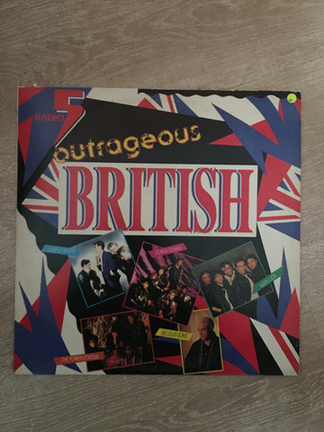 Outrageous British - Radio 5 - Vinyl LP Record - Opened  - Very-Good Quality (VG) - C-Plan Audio