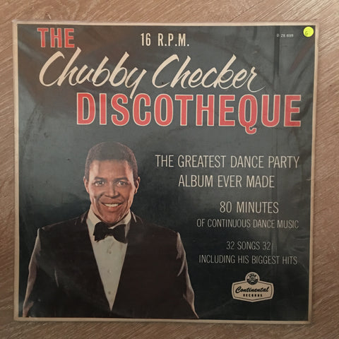 Chubby Checker ‎– The Chubby Checker Discotheque 16 RPM - Vinyl Record - Opened  - Fair Quality (F)