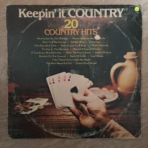 Keepin' It Country - 20 Hits – Vinyl LP Record - Opened - Good+ Quality (G+)