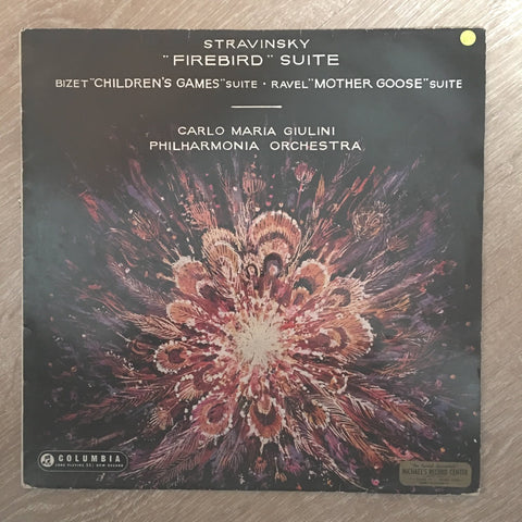 Carlo Maria Giulini & Stravinsky & Bizet & Ravel & Philharmonia Orchestra ‎– Firebird Suite Etc. - Vinyl LP Record - Opened  - Very-Good- Quality (VG-)