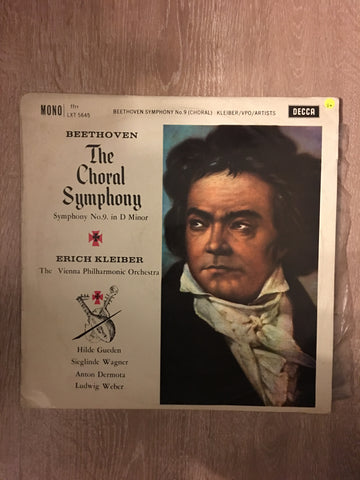 Beethoven - The Choral Symphony - Erich Kleiber - Vienna Philharmonic - Vinyl LP Record - Opened  - Good+ Quality (G+)