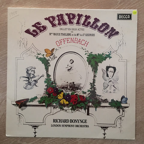Offenbach, Richard Bonynge, London Symphony Orchestra ‎– Le Papillon - Vinyl LP Record - Opened  - Very-Good+ Quality (VG+)