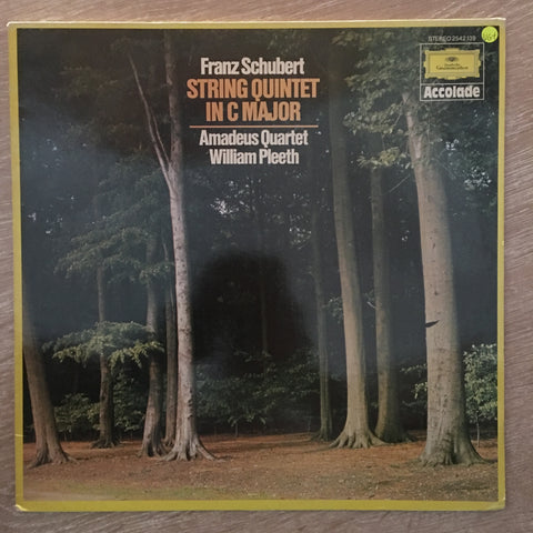 Schubert / Amadeus Quartet & William Pleeth ‎– Schubert: String Quintet In C Major, D 956 (Op. Post. 163) - Vinyl LP Record - Opened  - Very-Good+ Quality (VG+)