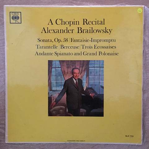 Alexander Brailowsky ‎– A Chopin Recital - Vinyl LP Record - Opened  - Very-Good Quality (VG)